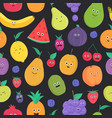 bright colored seamless pattern with cute fresh vector image