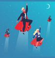 business superheroes flying superhero characters vector image vector image