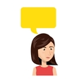 businesswoman character avatar with speech bubble vector image vector image