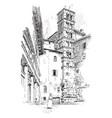 campanile facade ss giovanni e paolo vintage vector image vector image