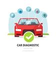 Car diagnostic service concept auto vector image