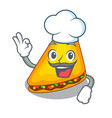 chef mexican quesadilla wrap with a character vector image vector image