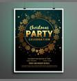 christmas party poster template in golden theme vector image