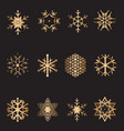 christmas snowflake collection vector image vector image