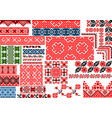 collection 30 seamless ethnic patterns vector image vector image