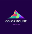 color mount logo icon vector image