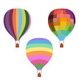 colorful drawing hot air balloons set vector image