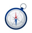 Compass icon in cartoon style isolated on white vector image vector image