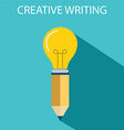 Concept of creative writing vector image