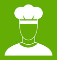 cook icon green vector image vector image