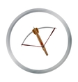Crossbow icon cartoon Single weapon icon from the vector image vector image