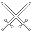 Crossed swords icon vector image