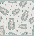 decorative pattern with bears vector image vector image