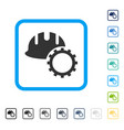 development hardhat framed icon vector image vector image