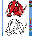 dog game character cartoon vector image vector image