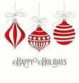 elegant christmas card with balls vector image vector image