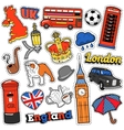 England Travel Scrapbook Stickers Patches Badges vector image vector image