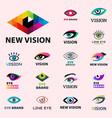 eye blinker business vision daylight glimmer vector image vector image