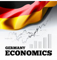 germany economics with german vector image