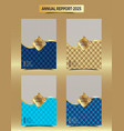 gold annual reporting business cover design vector image vector image