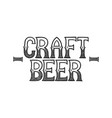graphic craft beer vector image