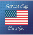 happy veterans day united state america flag vector image vector image