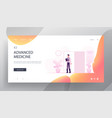 health and medicine website landing page young vector image vector image