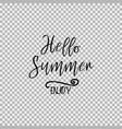 hello summer enjoy transparent background vector image vector image