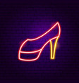 high heels neon sign vector image