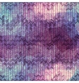 Knitted chevron with doodles pattern vector image vector image