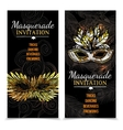 Masquerade Carnival Banners vector image vector image