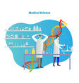 medical science drug or pill vector image vector image