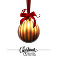 merry christmas and a happy new year golden vector image vector image