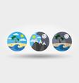 Nature vacation camping set icons logos