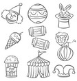 object circus hand draw doodles vector image vector image
