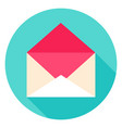 open envelope circle icon vector image