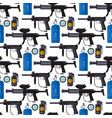paintball club protection gun sport game seamless vector image vector image