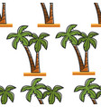 palm tree seamless pattern egypt beach resort vector image