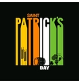patrick day design background vector image
