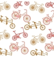 pattern bicycle poster icon vector image vector image