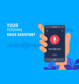 personal assistant and voice recognition concept vector image