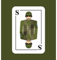 Playing card soldiers Conceptual new card military vector image