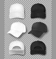 realistic baseball cap mockup isolated on vector image