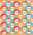 seamless pattern with santa claus christmas or vector image