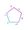 shape icon design vector image