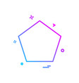 shape icon design vector image vector image