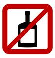Sign of prohibition of alcohol vector image