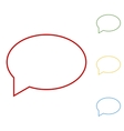 Speech bubble Set of line icons vector image vector image