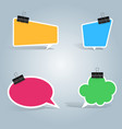speech bubbles clip pin icon dialog box info vector image vector image