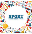 sport activity social media banner template vector image vector image